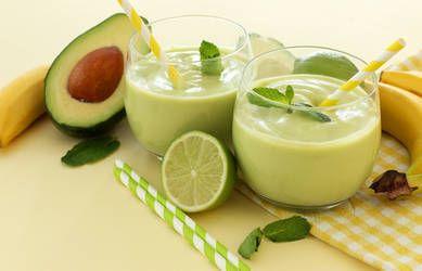 smoothie with avocado banana